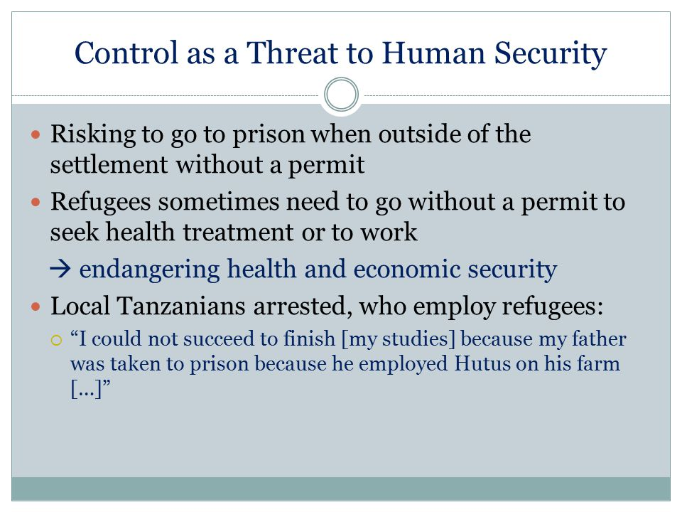 Control as a Threat to Human Security
