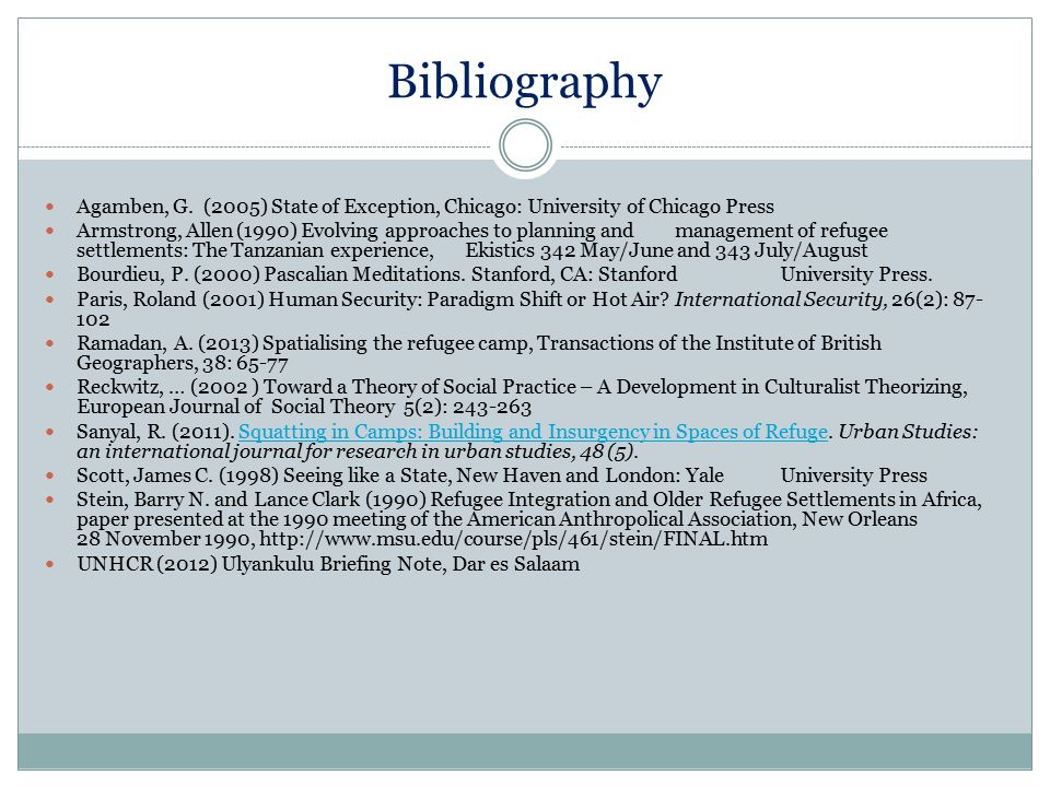 Bibliography Agamben, G. (2005) State of Exception, Chicago: University of Chicago Press.