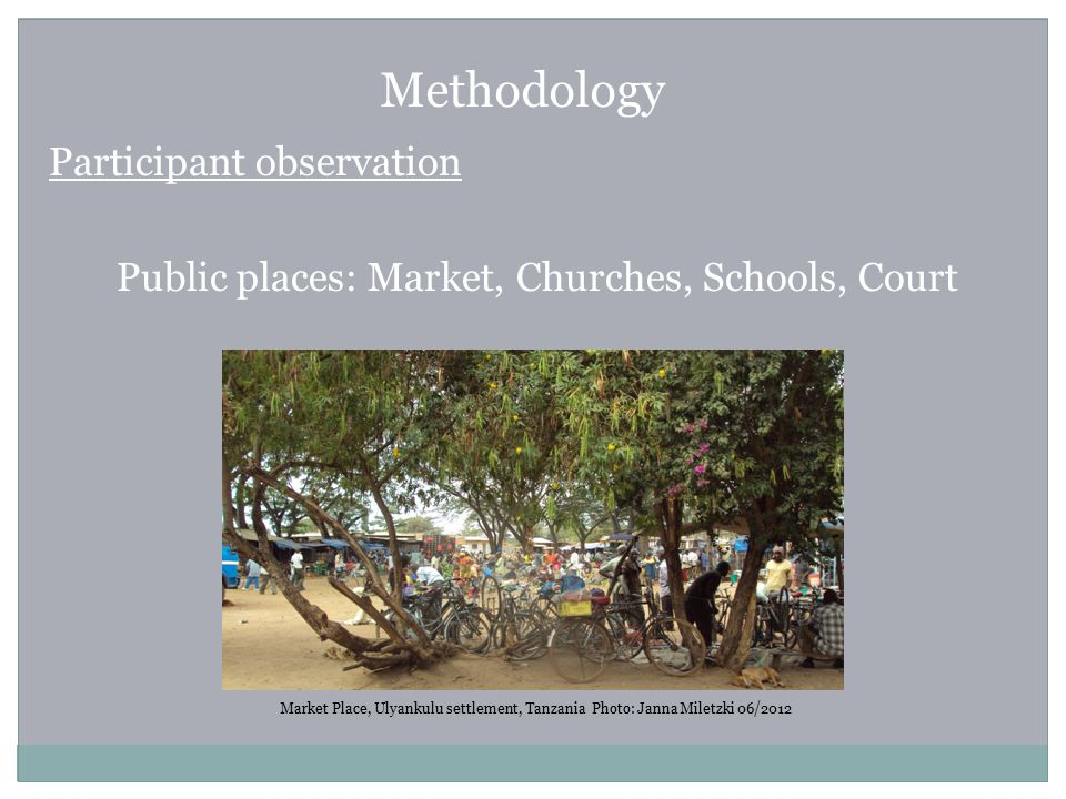 Methodology Participant observation