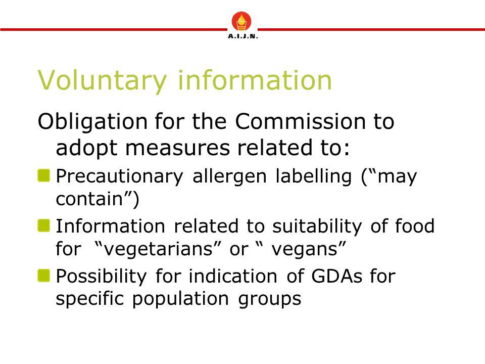 Voluntary information