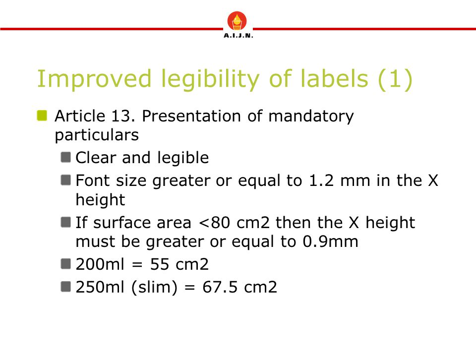 Improved legibility of labels (1)