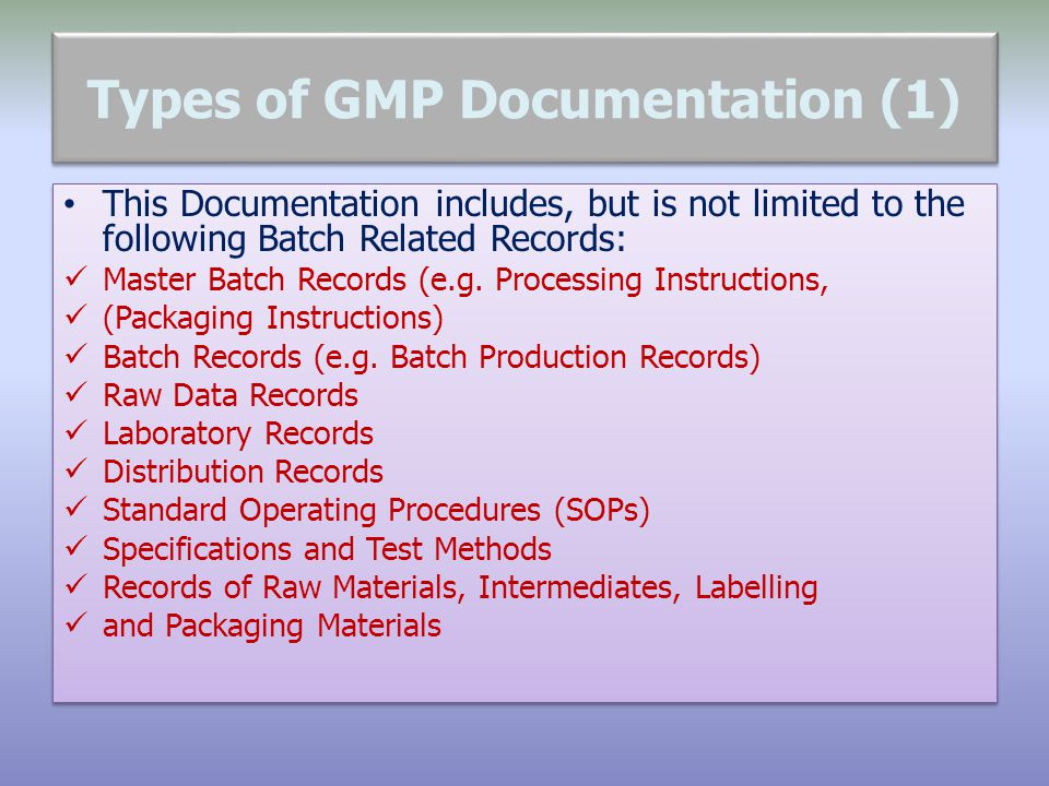 Types of GMP Documentation (1)