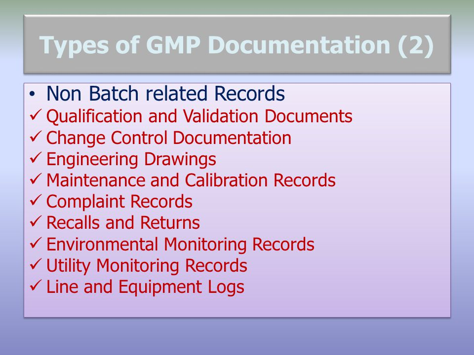 Types of GMP Documentation (2)