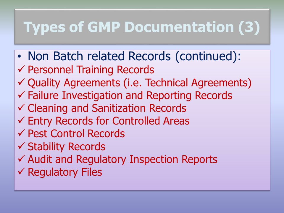 Types of GMP Documentation (3)