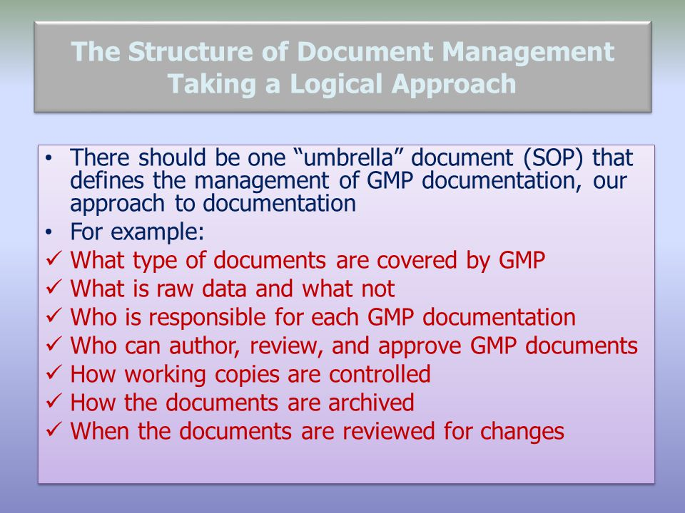 The Structure of Document Management Taking a Logical Approach