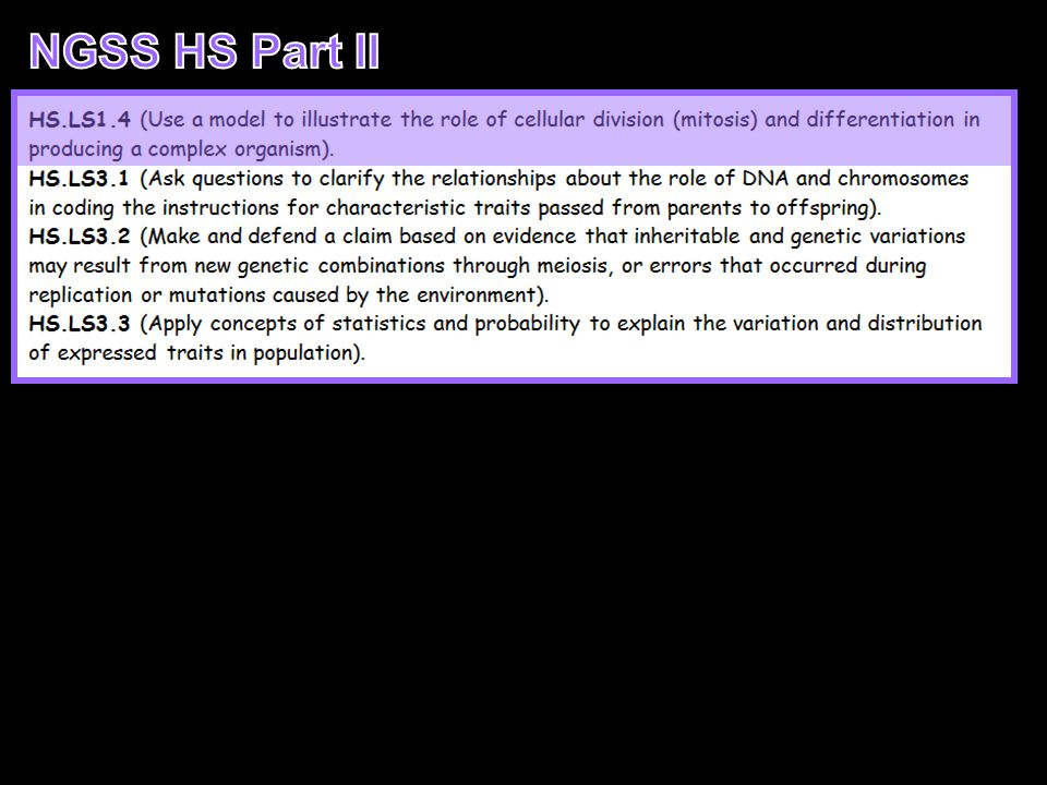 NGSS HS Part II