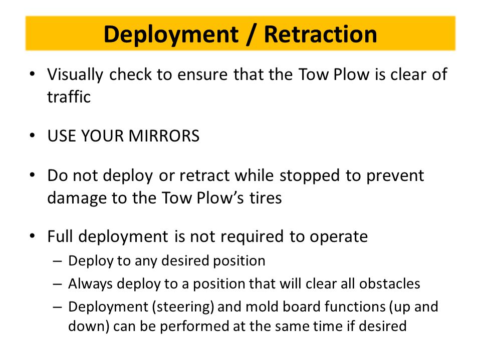 Deployment / Retraction