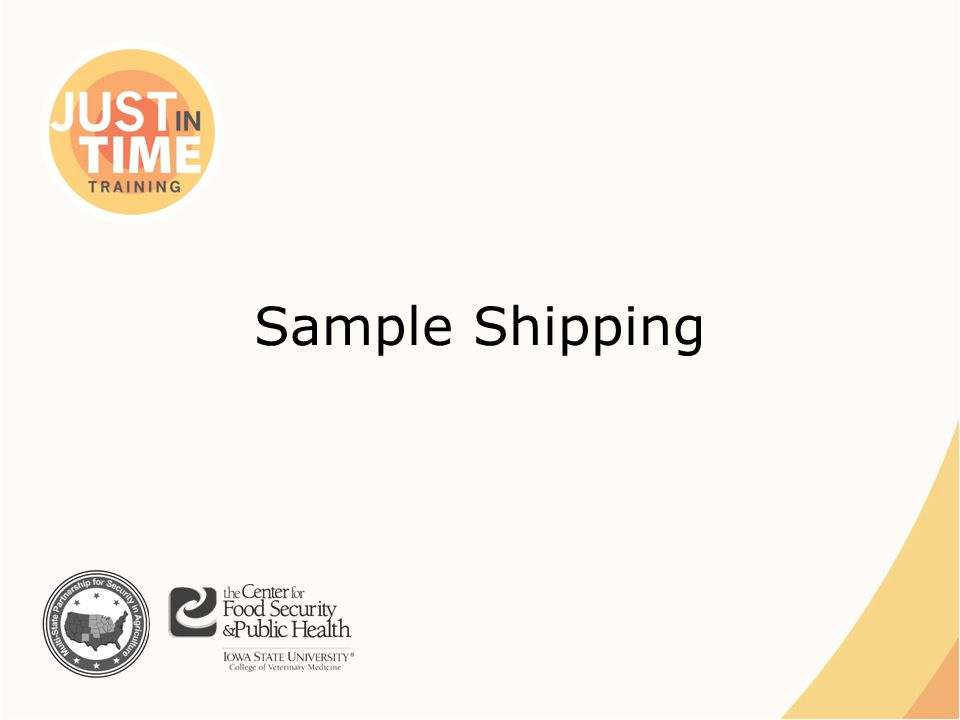 Sample Shipping