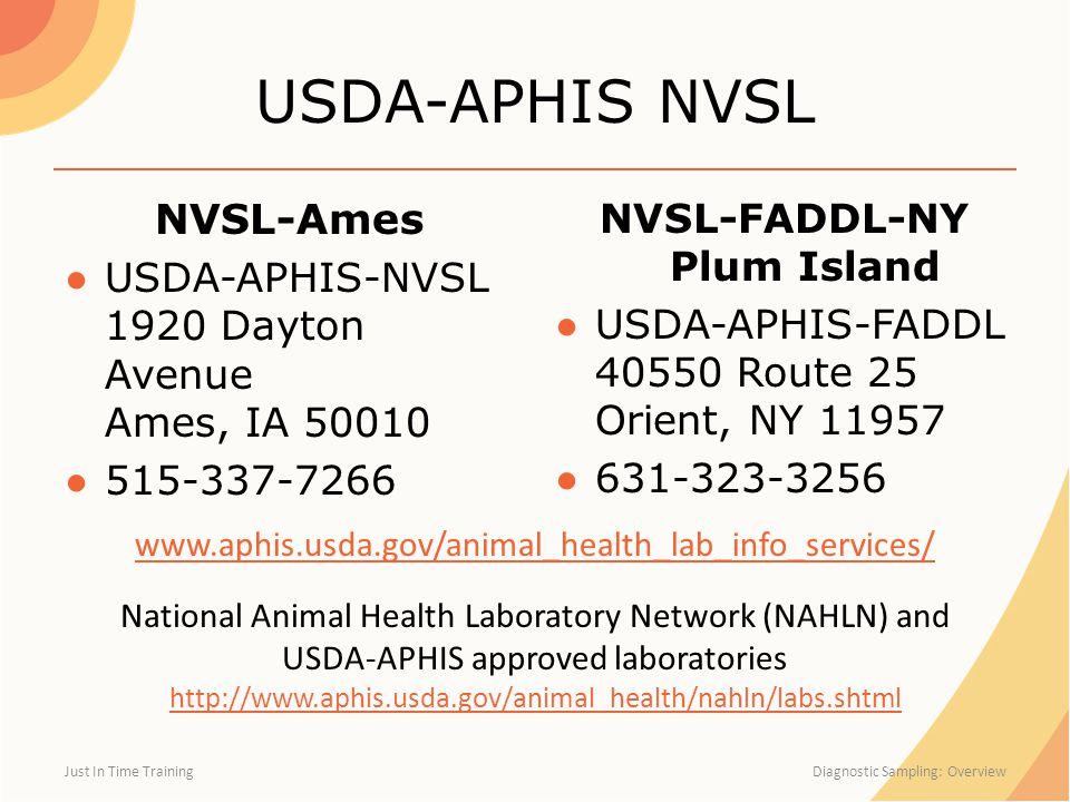 NVSL-FADDL-NY Plum Island