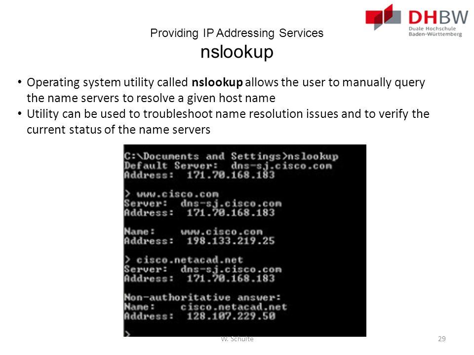 Providing IP Addressing Services nslookup