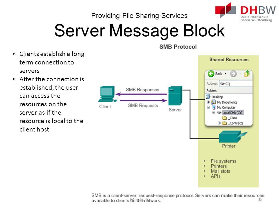 Providing File Sharing Services Server Message Block