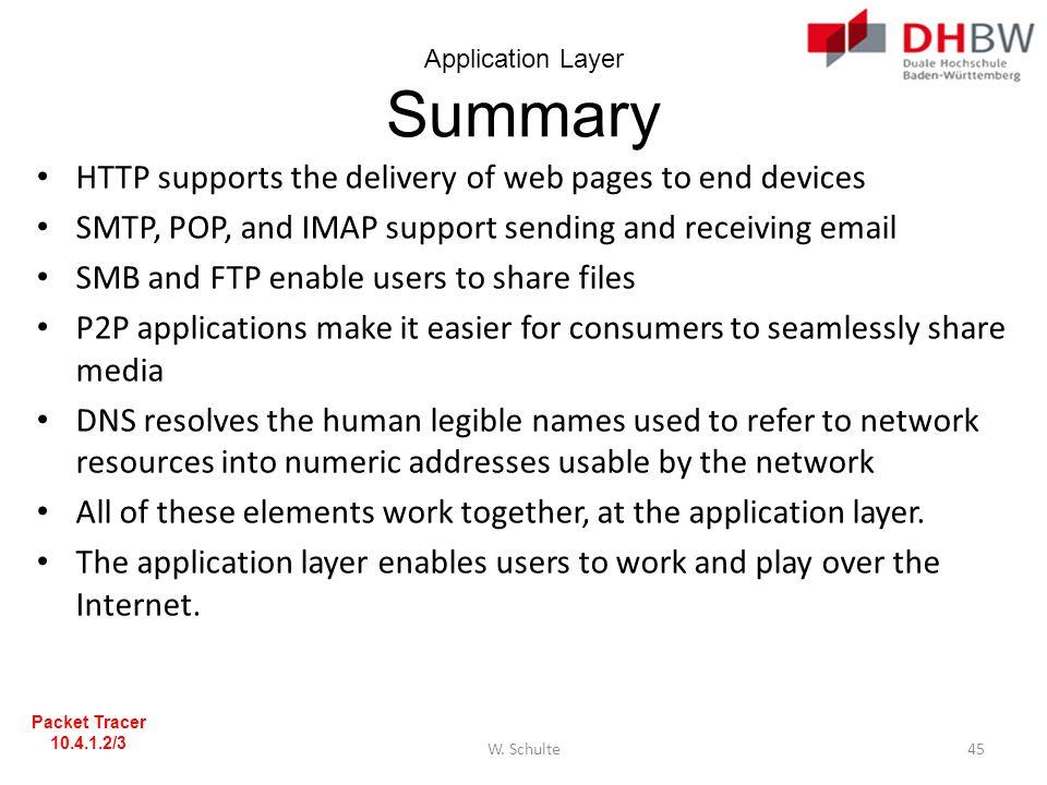 Application Layer Summary