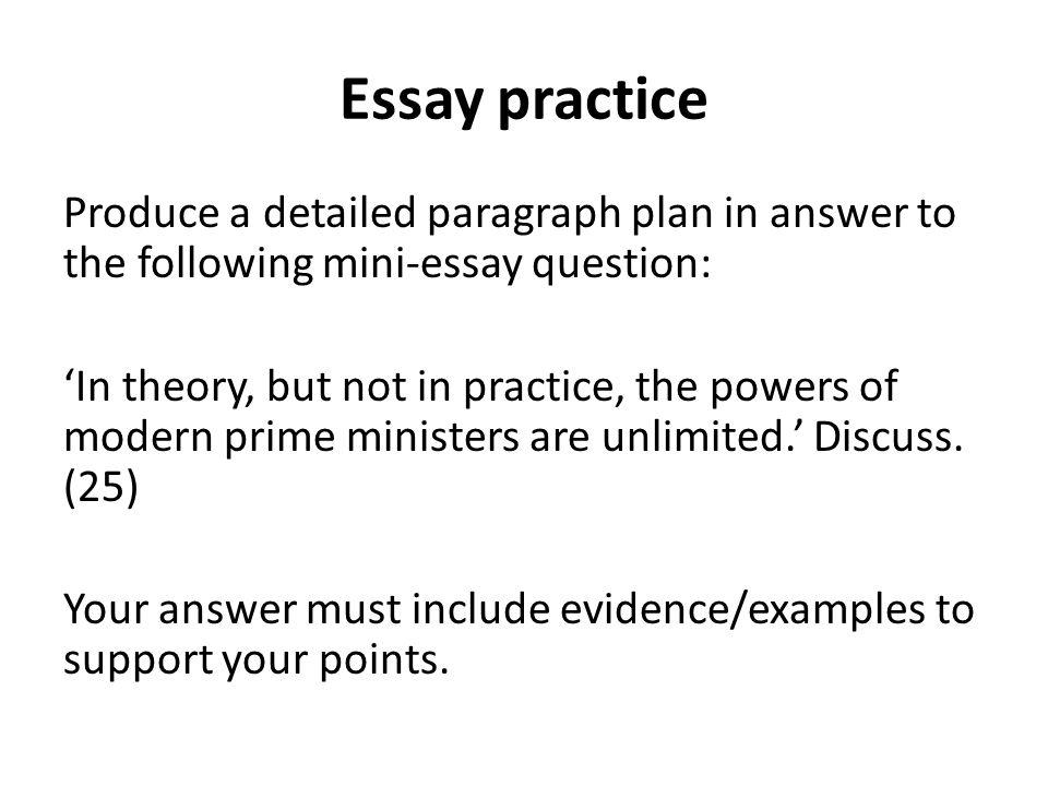 Essay practice