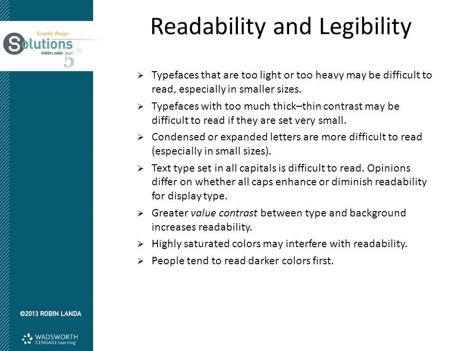 Readability and Legibility