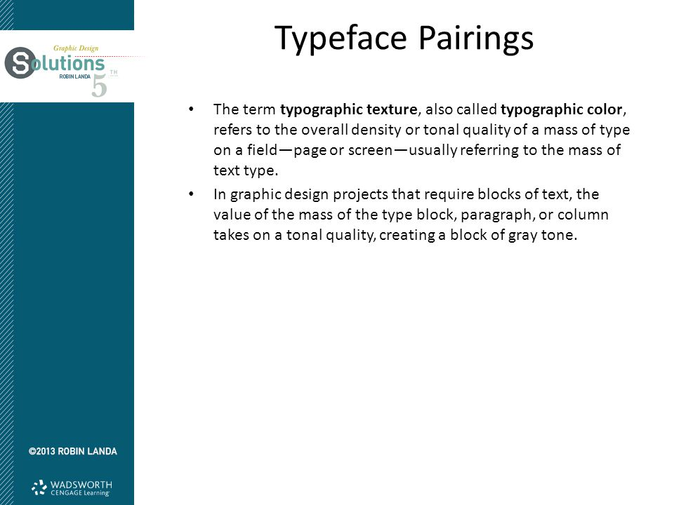 Typeface Pairings