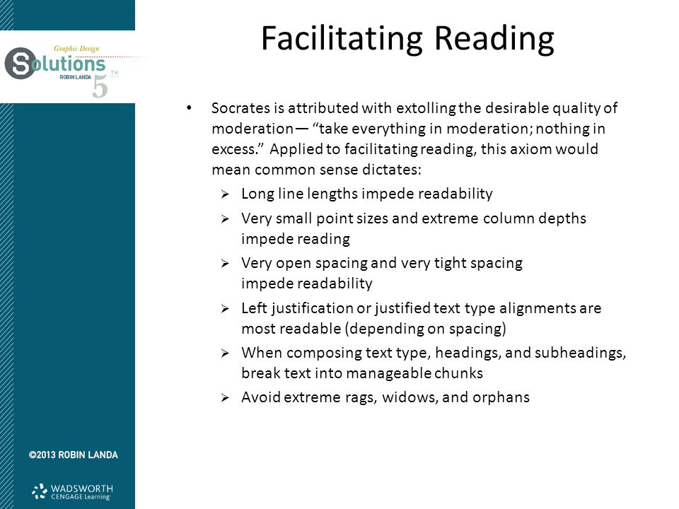 Facilitating Reading