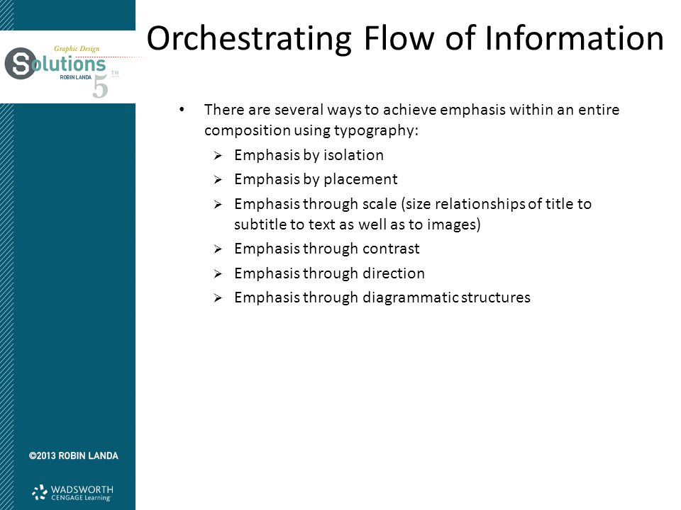 Orchestrating Flow of Information