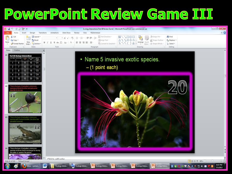 PowerPoint Review Game III