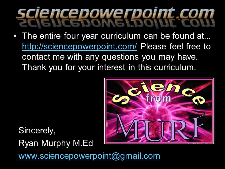 The entire four year curriculum can be found at