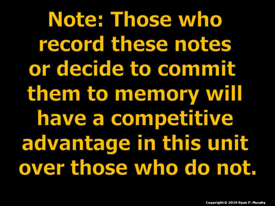 Note: Those who record these notes or decide to commit