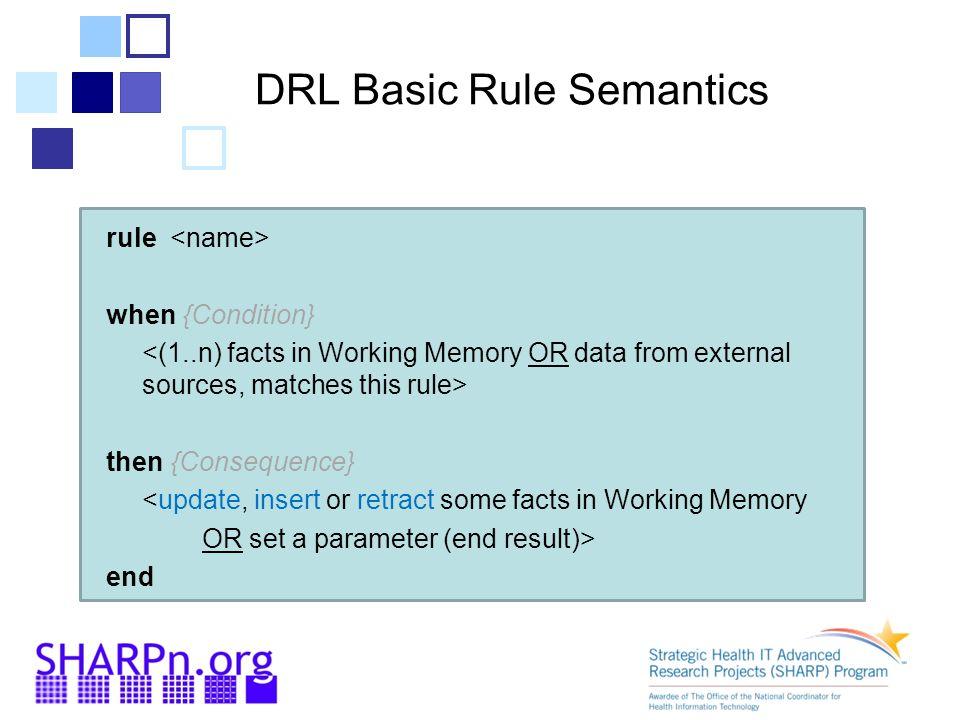 DRL Basic Rule Semantics