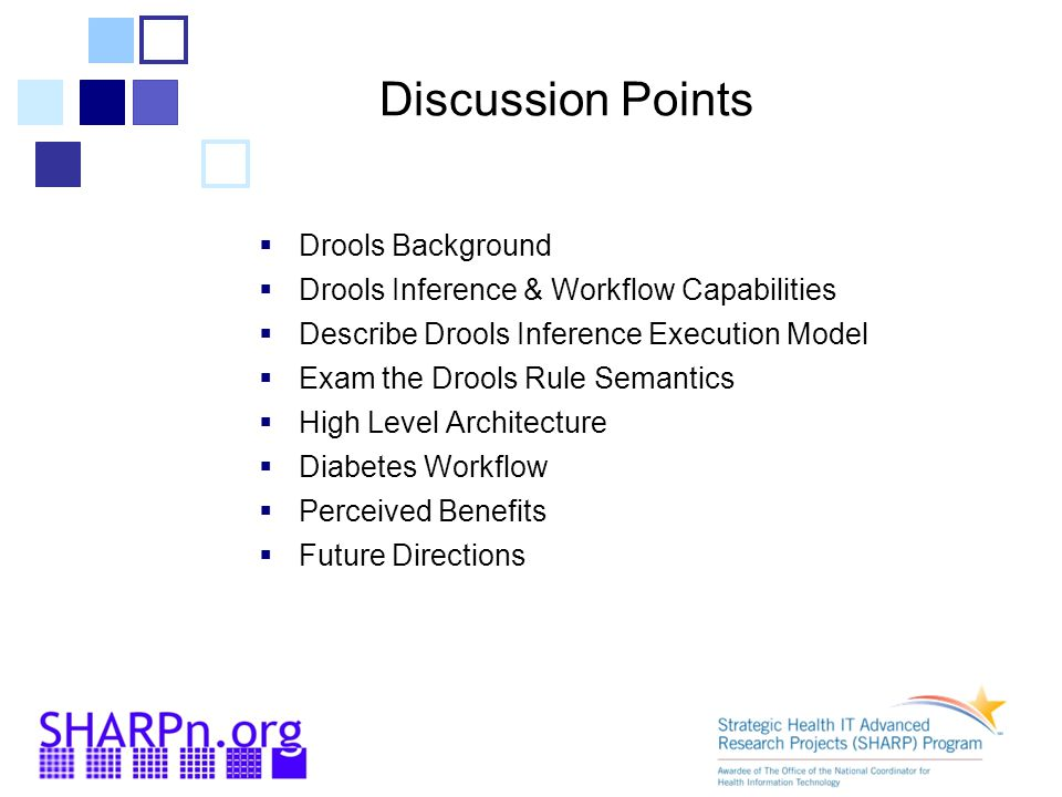 Discussion Points Drools Background