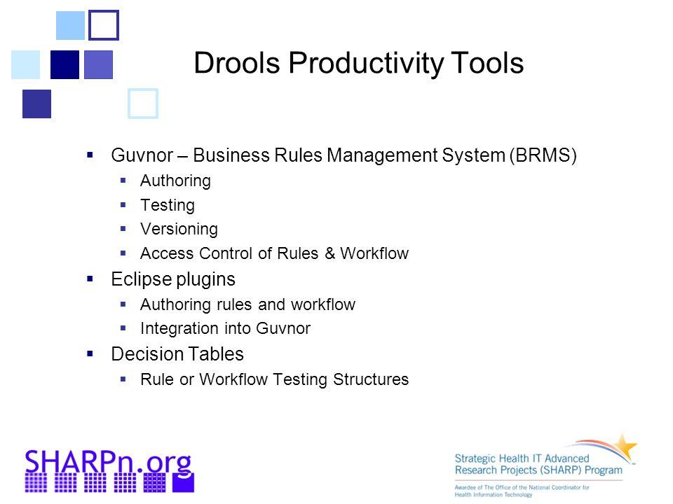 Drools Productivity Tools