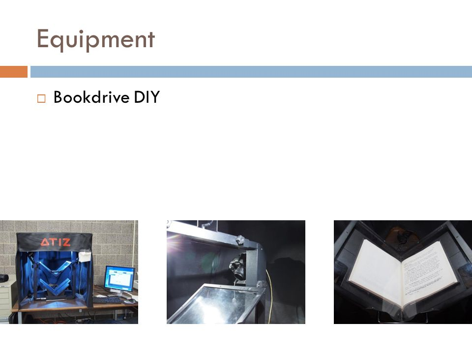 Equipment Bookdrive DIY