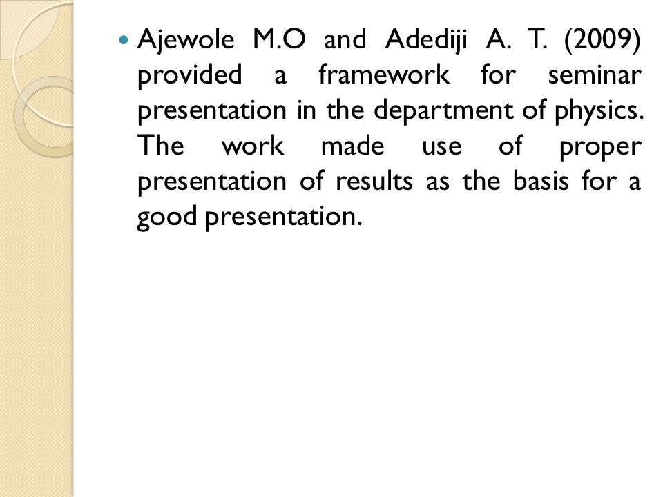 Ajewole M. O and Adediji A. T