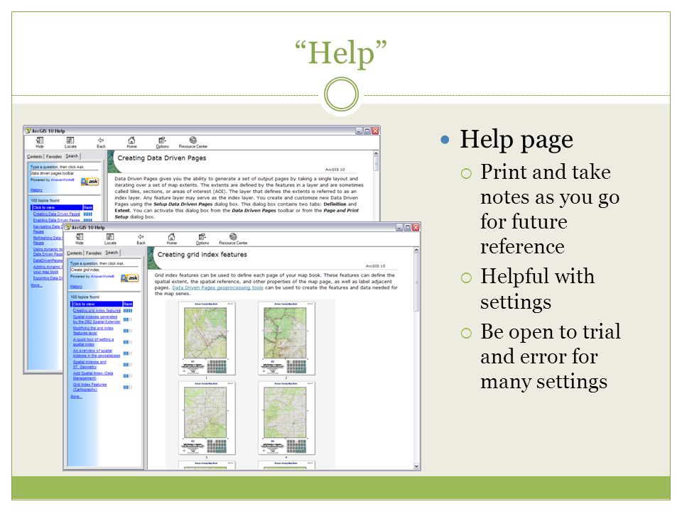 Help Help page Print and take notes as you go for future reference