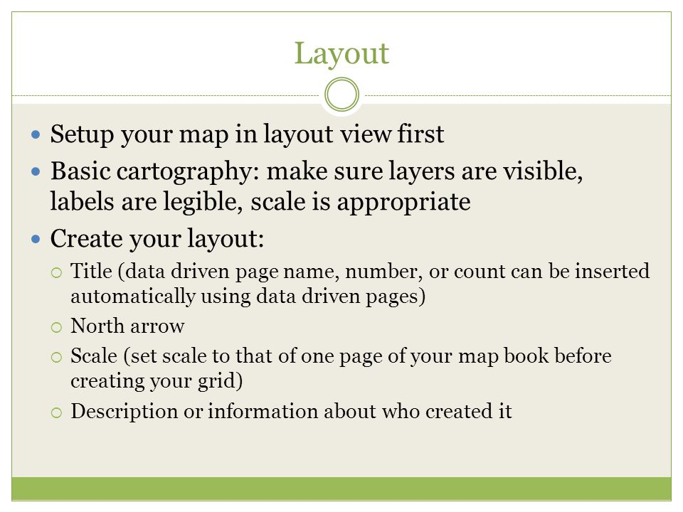 Layout Setup your map in layout view first