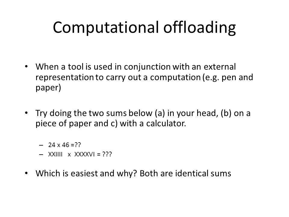 Computational offloading