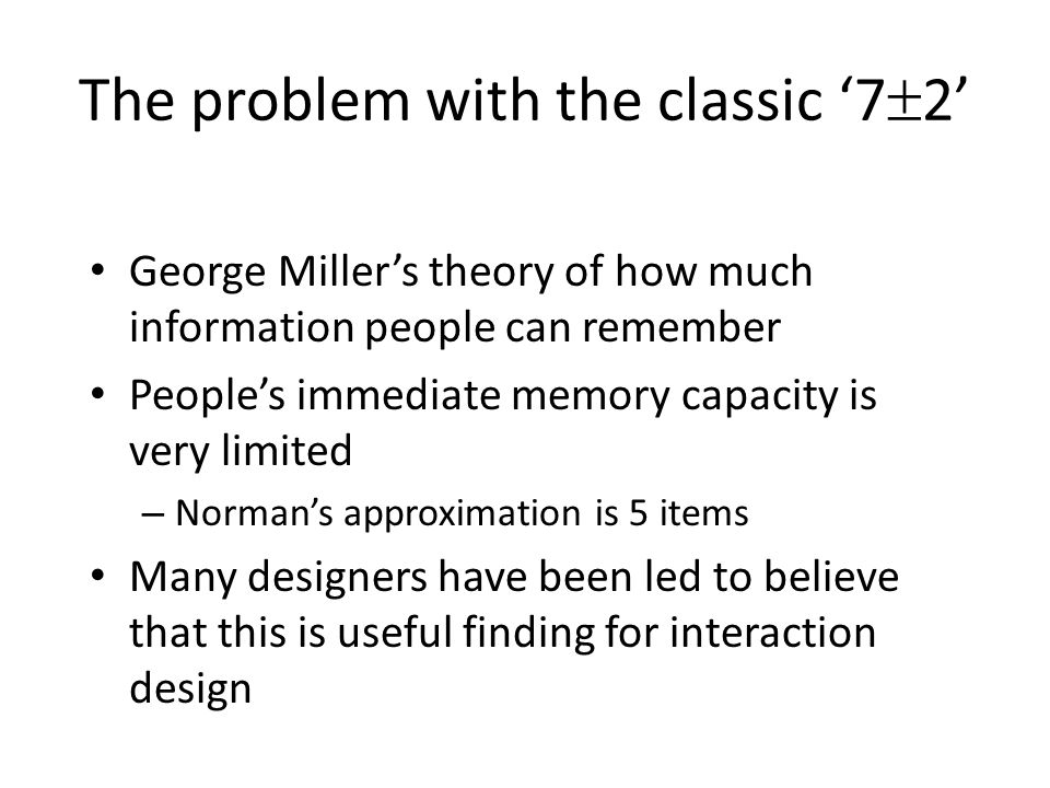 The problem with the classic '72'