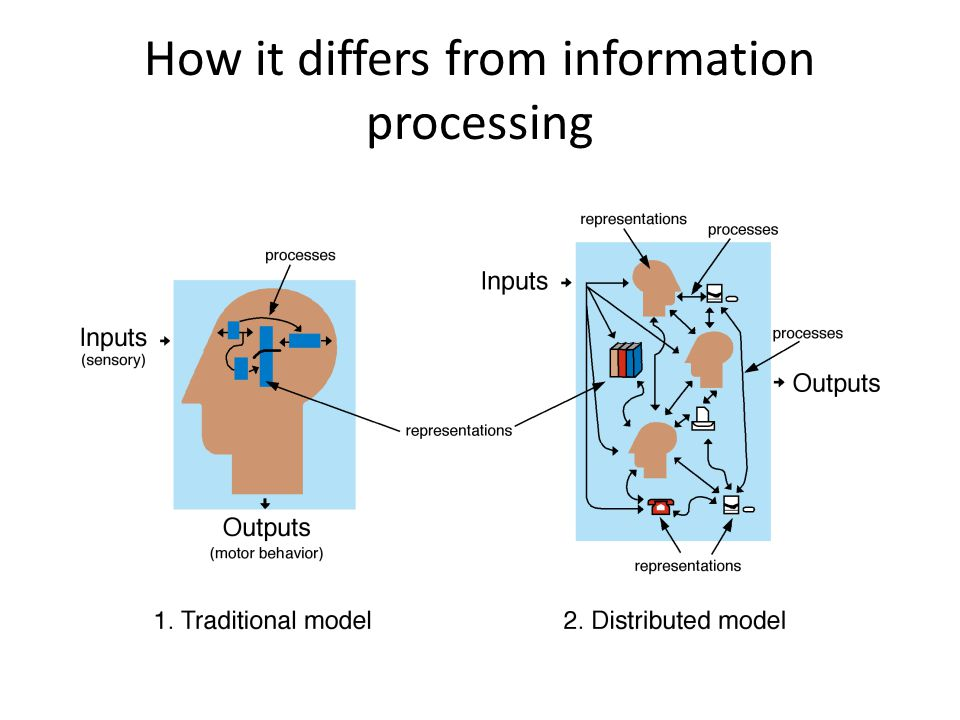 How it differs from information processing
