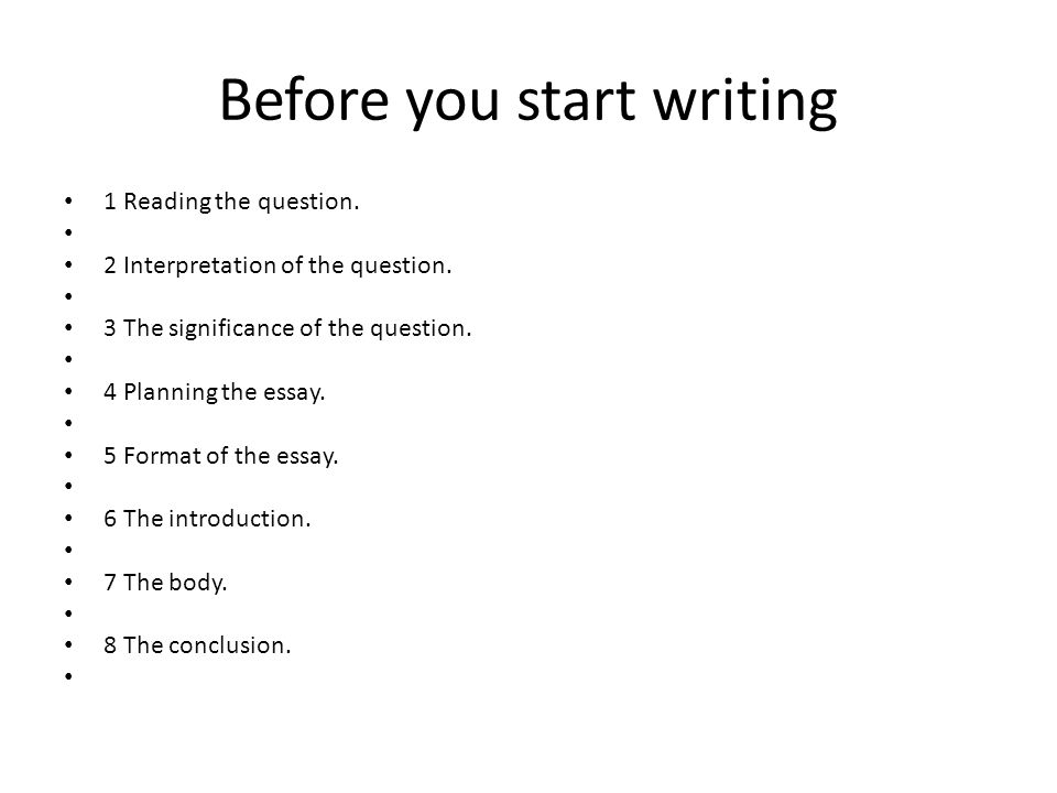 writing postgraduate essays ppt before you start writing