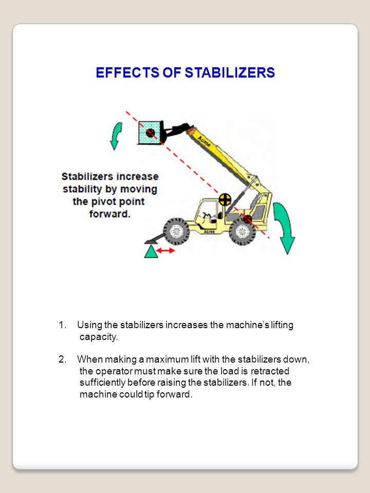 EFFECTS OF STABILIZERS