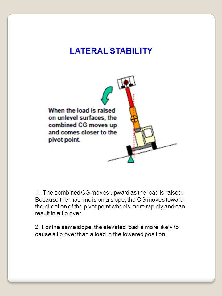 LATERAL STABILITY