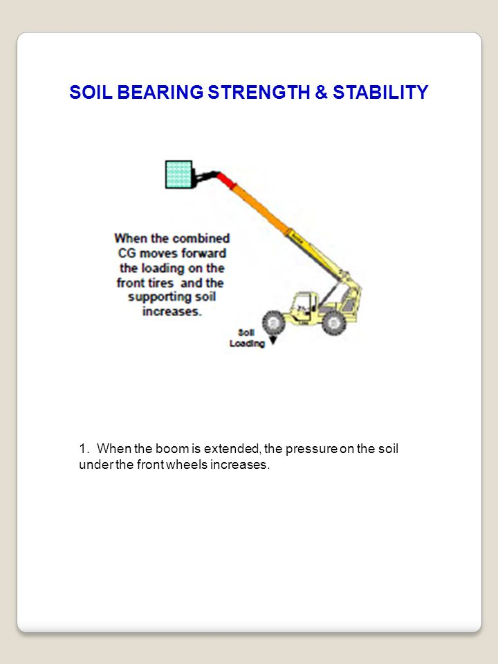 SOIL BEARING STRENGTH & STABILITY