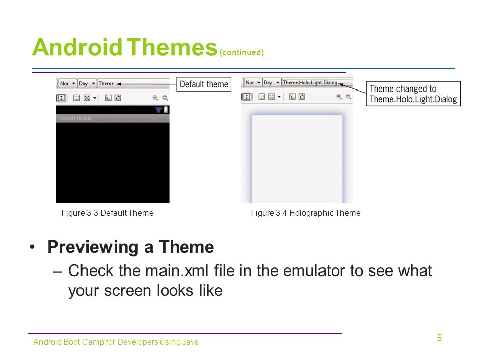 Android Themes (continued)
