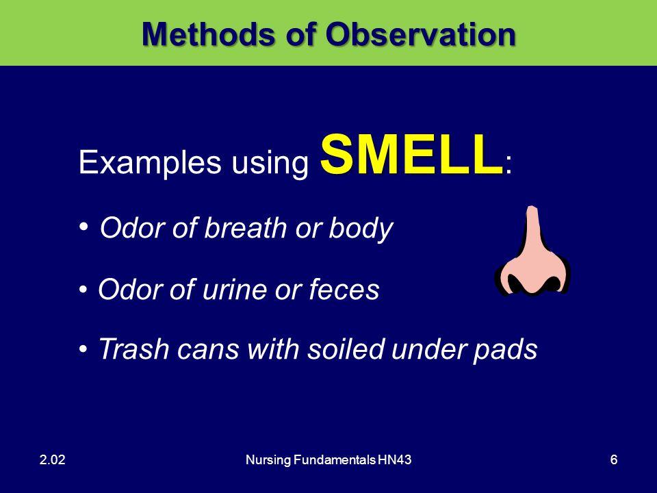 Methods of Observation