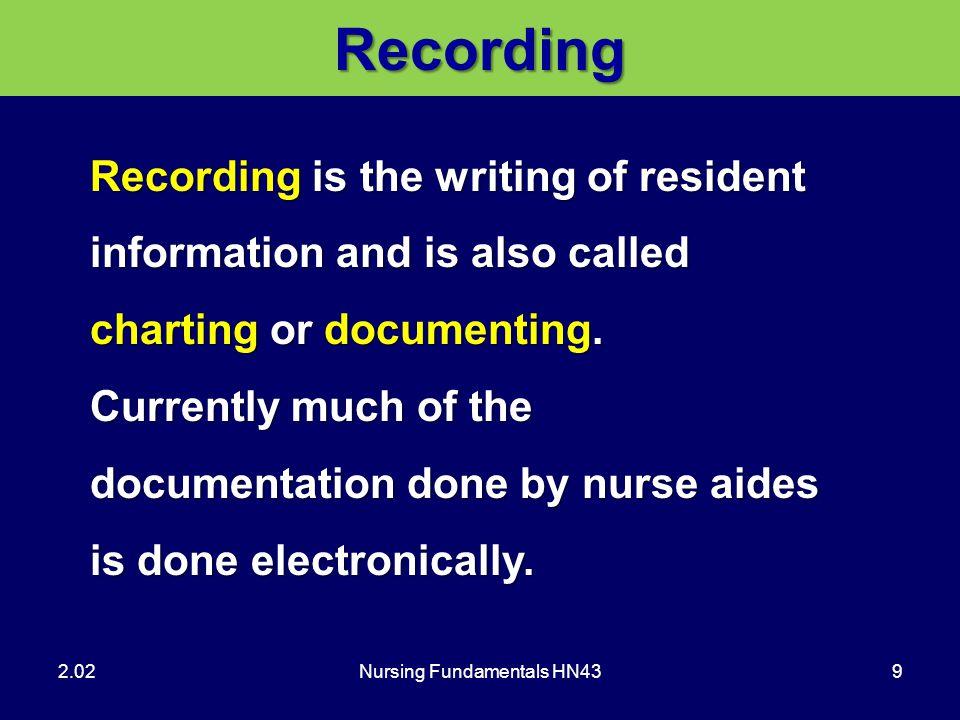 Nursing Fundamentals HN43