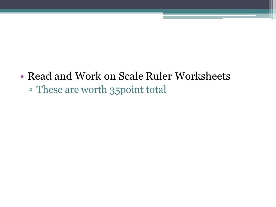 Read and Work on Scale Ruler Worksheets