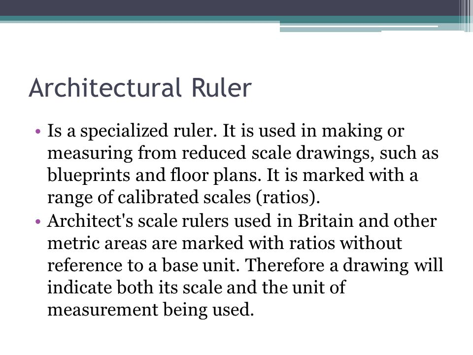Architectural Ruler
