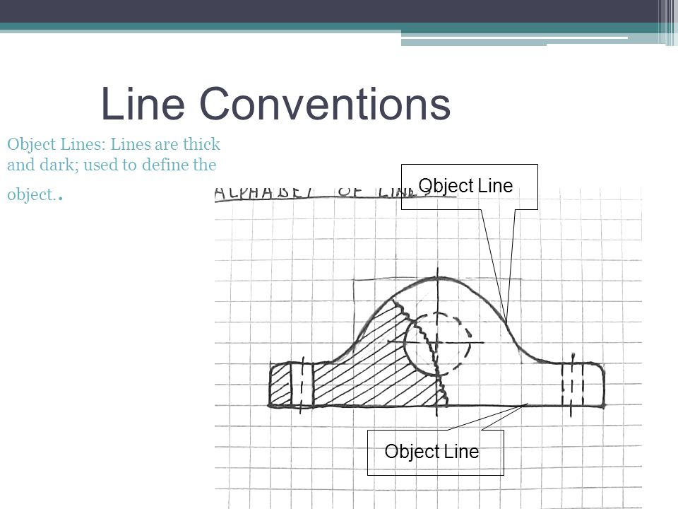 Line Conventions Object Line Object Line Object Lines: Lines are thick