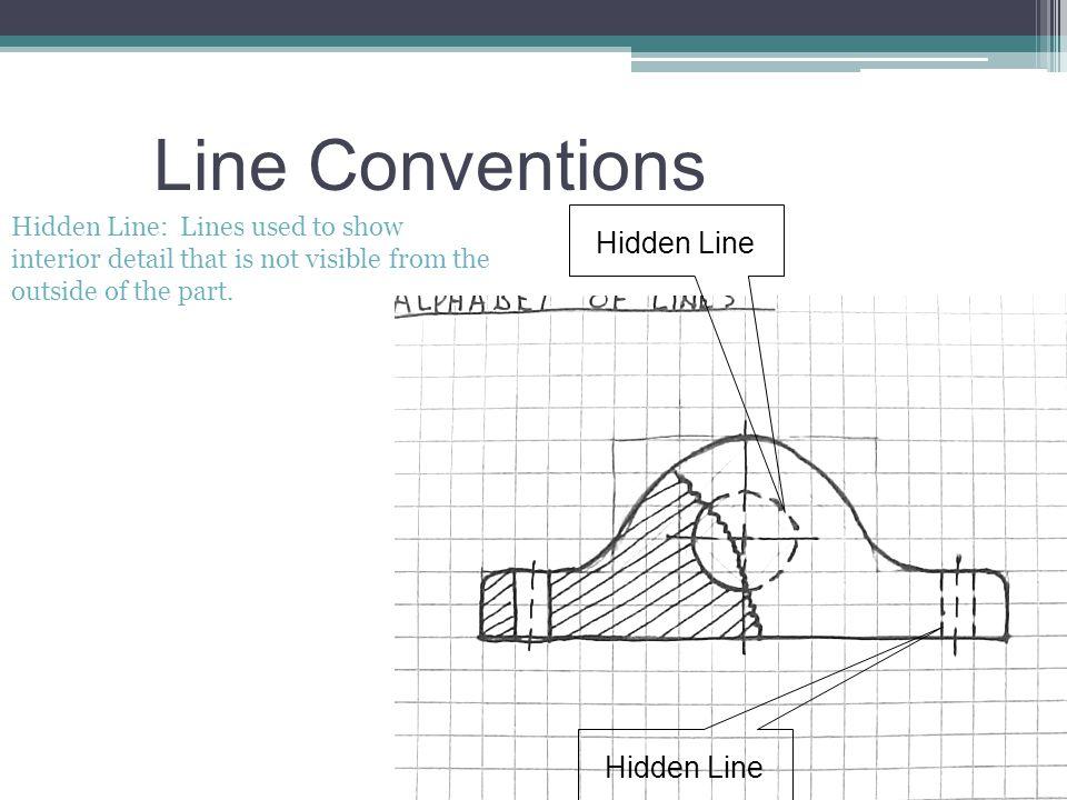 Line Conventions Hidden Line Hidden Line