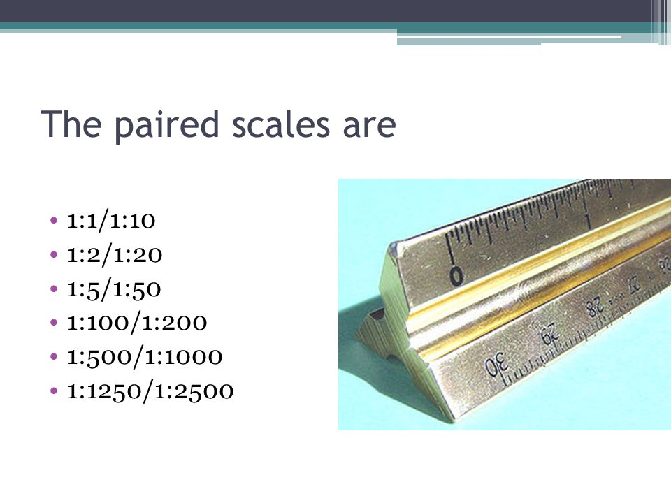 The paired scales are 1:1/1:10 1:2/1:20 1:5/1:50 1:100/1:200