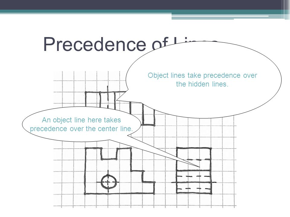 Precedence of Lines Object lines take precedence over