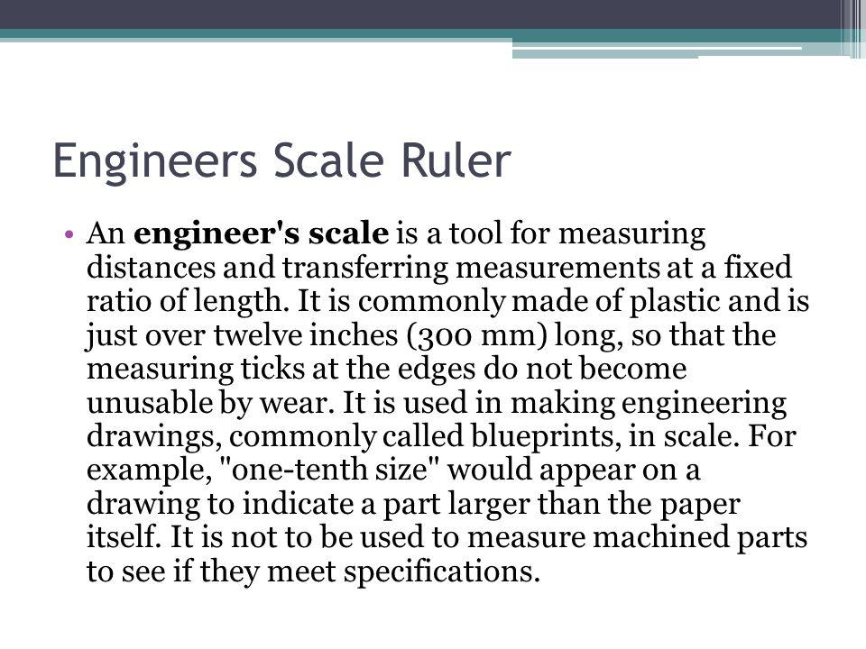 Engineers Scale Ruler