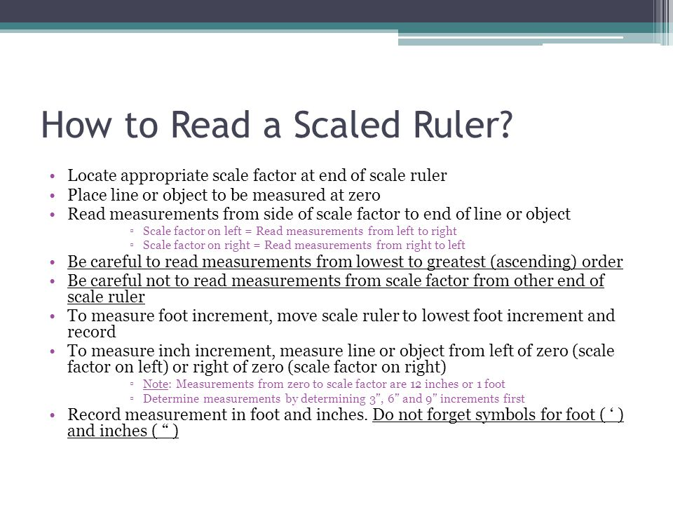How to Read a Scaled Ruler