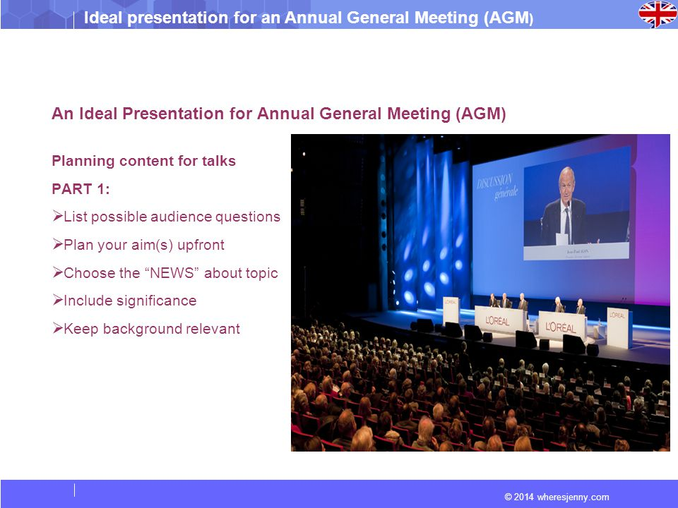 An Ideal Presentation for Annual General Meeting (AGM)